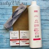 Обзор заказа из ИМ «Тэнси», сентябрь 2018 г. Стойкая крем-краска для волос «Matrix» Socolor Beauty Extra Coverage (тон 504N) 90 мл, Крем-оксидант «Matrix» 6% 1000 мл. В подарок 2 пробника от марки «Кора» – маска и скраб!